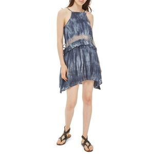 Topshop lace trim tie dye mini dress